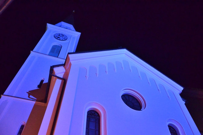 Church Andrew (Cerkev Sv. Andreja) in the evening