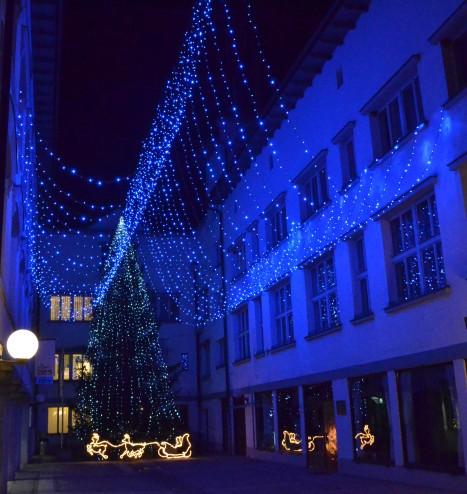Christmas Tree in Tržič, version 2
