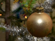 Golden Christmas Ornament, December 2014