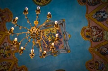 Beautiful Ceiling and Chandelier of the St-Georges Chapel in Ljubljana Castle