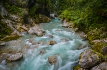 Beautiful Emerald Water in Tolminska Korita