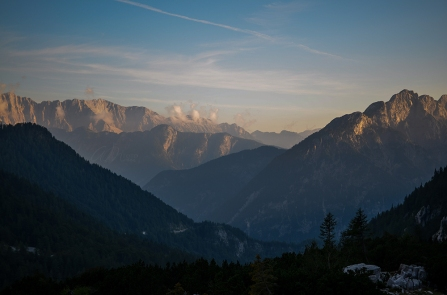 Beautiful View from the top of the Vršič Pass