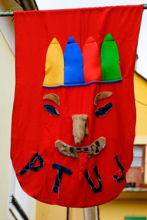 Kurenti Flag in Ptuj