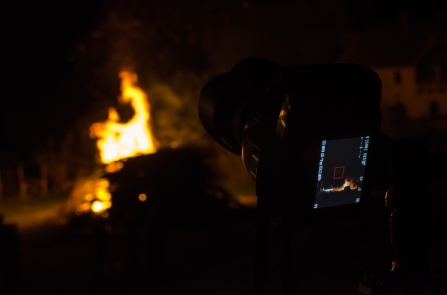 Bonfire Through Another Lens
