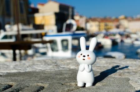 Lapinou en Voyage, amazed in Rovinj