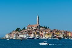 Wonderful sight of Rovinj Old Town