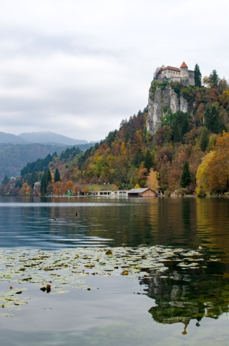 Bled Castle on a Cloudy Day